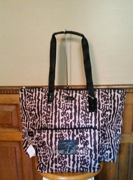 Coach Travel Tote Nylon Leopard multi mix Travel Bag