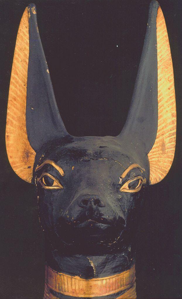 Portable Anubis shrine found in the tomb of Tutankhamun (detail) ca. 1332 to 1323 B.C.E *