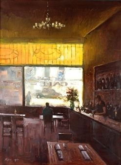 Impressionist Cafe Bar Paintings For Home