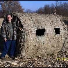 Double Bull Hay Bale Blind
