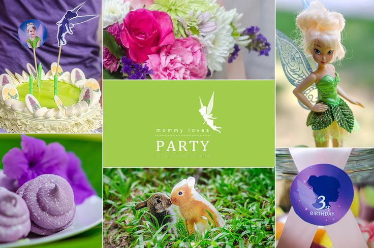 tinker bell theme party for 3th birthday