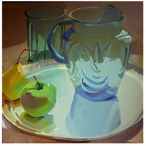 Blue Glass Pitcher by Karen O'Neil