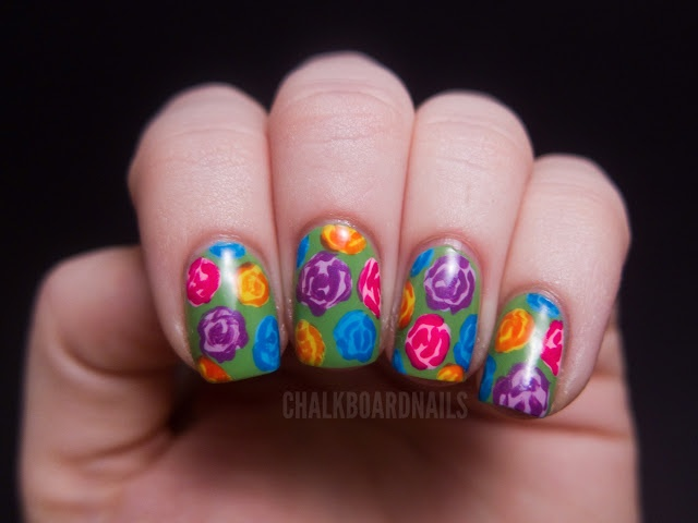 bright rose pattern