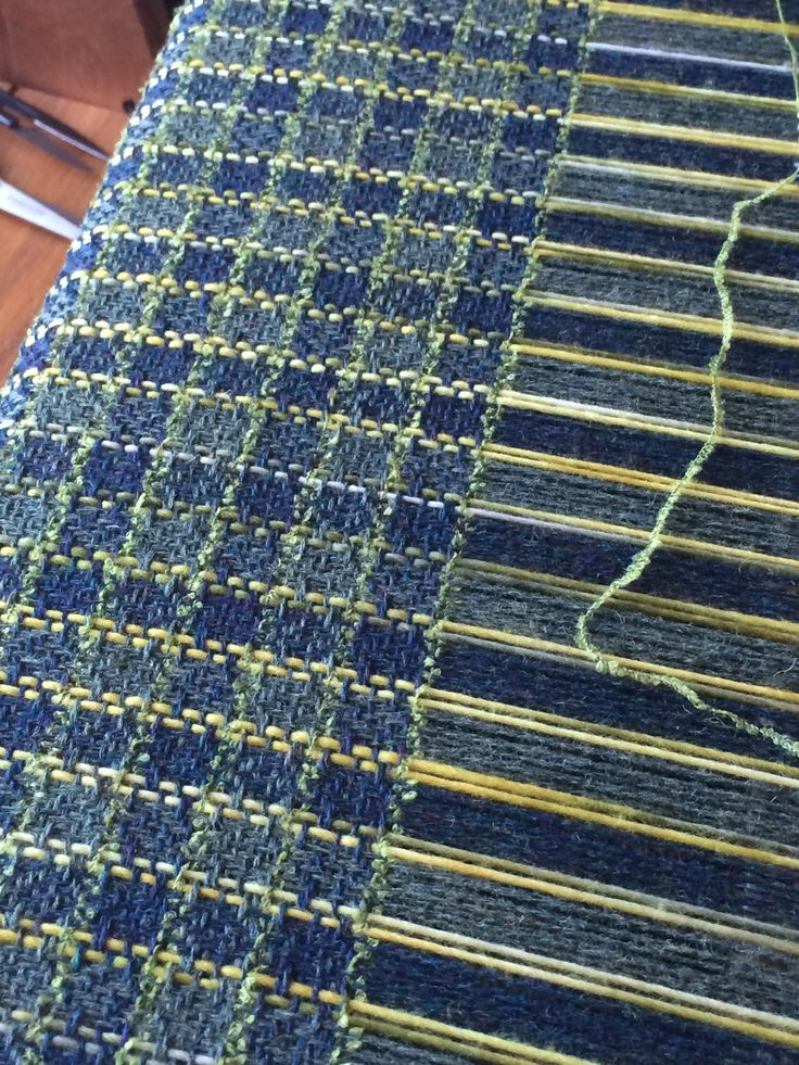 Furnishing Fabric: Flo's Check; made by Josephine Andrews: awovenfabric@gmail.com <-- lovely colours