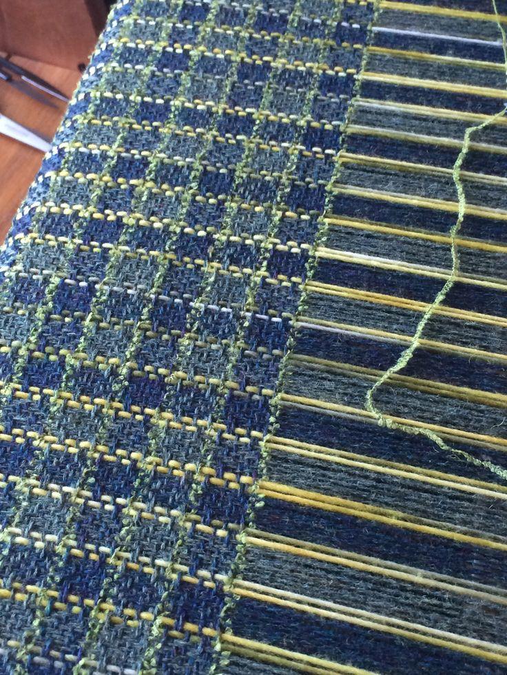Furnishing Fabric: Flo's Check; made by Josephine Andrews: awovenfabric@gmail.com