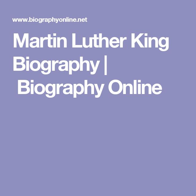 """Martin Luther King Biography 