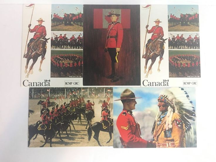 Vtg Native American With RCMP Canadian Indian Lot of 5 Postcards 03