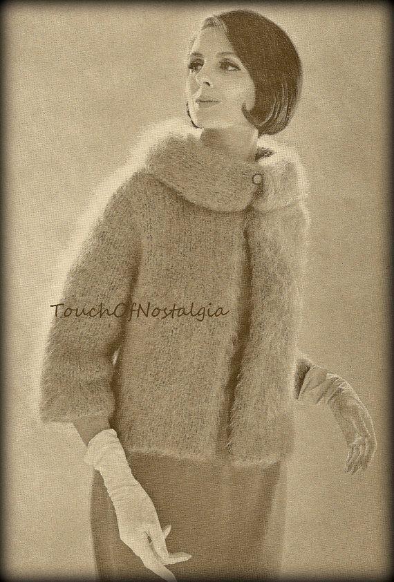 Elegant MOHAIR COAT Knitting Pattern Vintage  by touchofnostalgia7