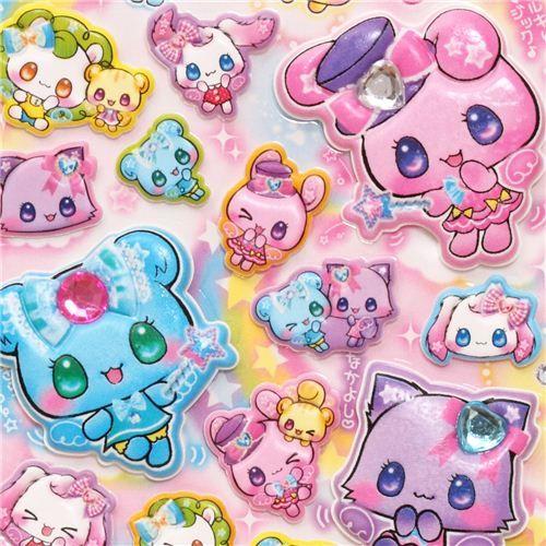kawaii puffy Magic animal stickers
