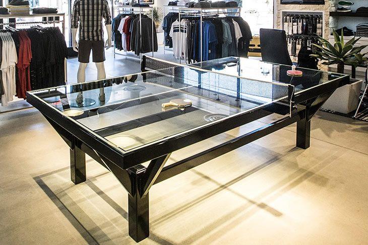 Il tavolo da ping pong trasparente