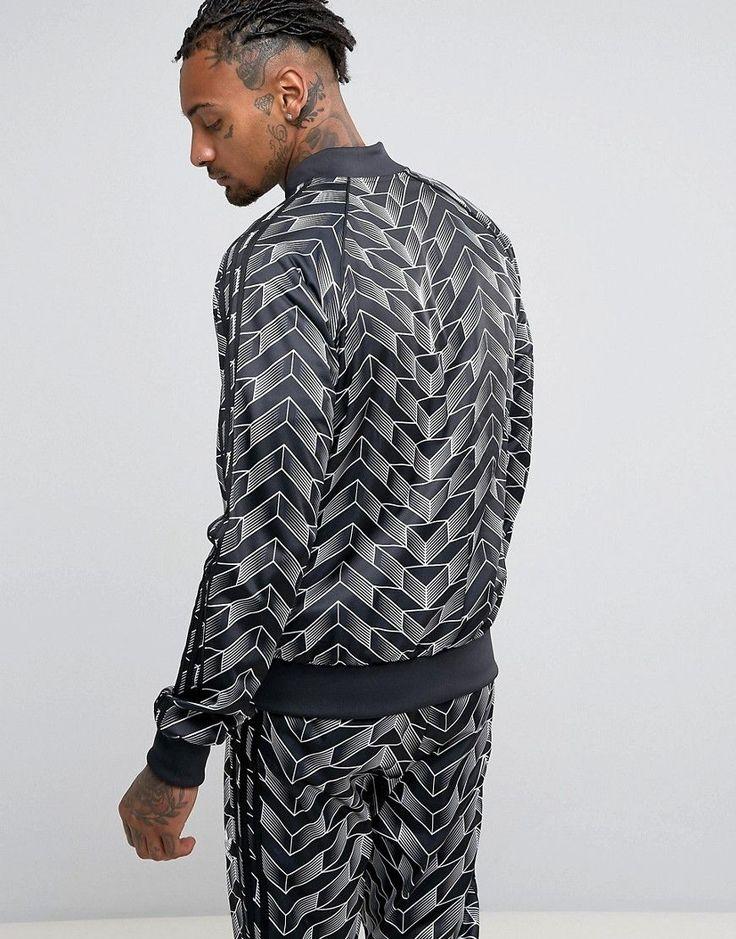 adidas Originals Superstar Soccer Track Jacket In Black BQ2014 - Black