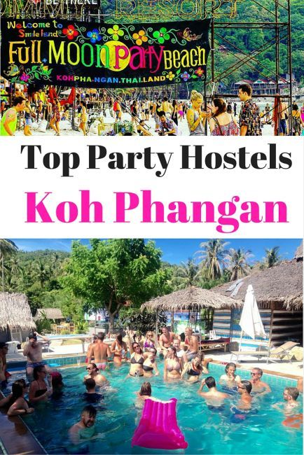 Top Party Hostels On Koh Phangan