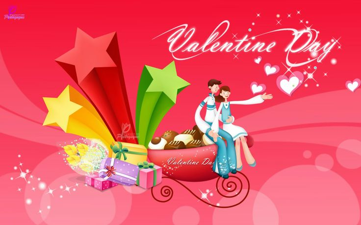 Beautiful Valentines Day Card with Gifts 3D Cartoonic Couple Lovers Happy Valentines Day Card Image Valentines Wishes Romantic Beautiful for...