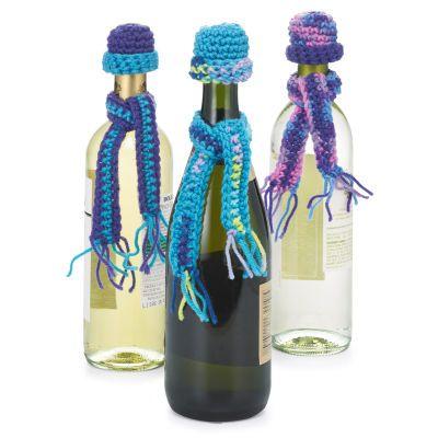 Craft Smart™ Crochet Wine Bottle Toppers (Crochet)