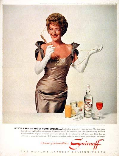 1962 Smirnoff Vodka featuring Gypsy Rose Lee