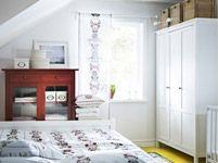 Linen cabinet in bedroom