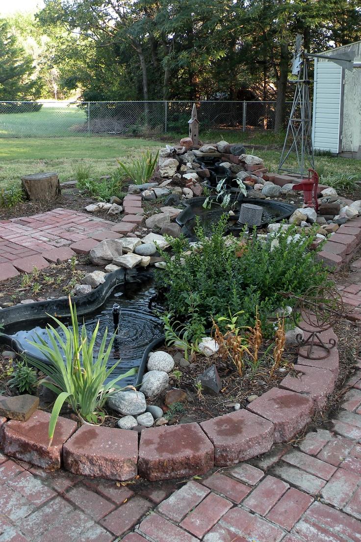 My backyard ponds backyard pond pinterest for Outdoor yard ponds