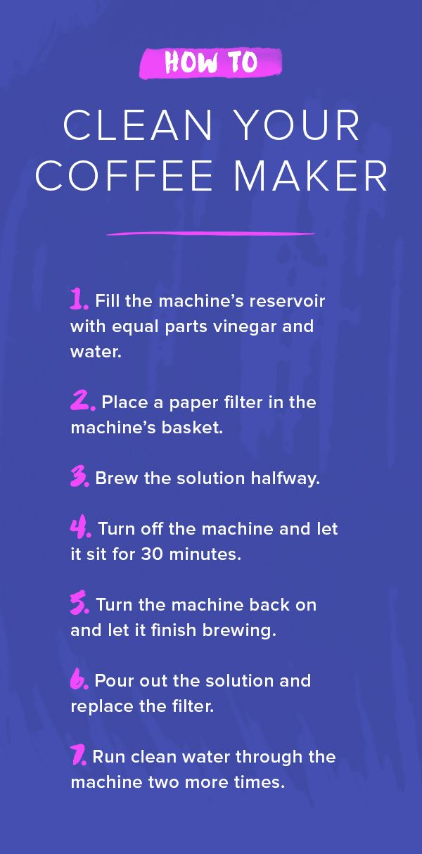Get all of the grime out of your coffee maker by following this simple guide. It's so easy to clean it.