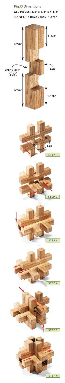 Wooden Burr Puzzles - Woodworking Projects - American Woodworker: