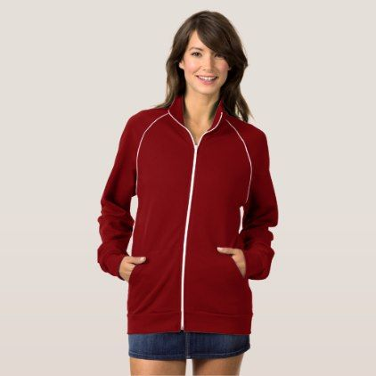 UNISEX  Style: Women's  Fleece Track Jacket - anniversary cyo diy gift idea presents party celebration
