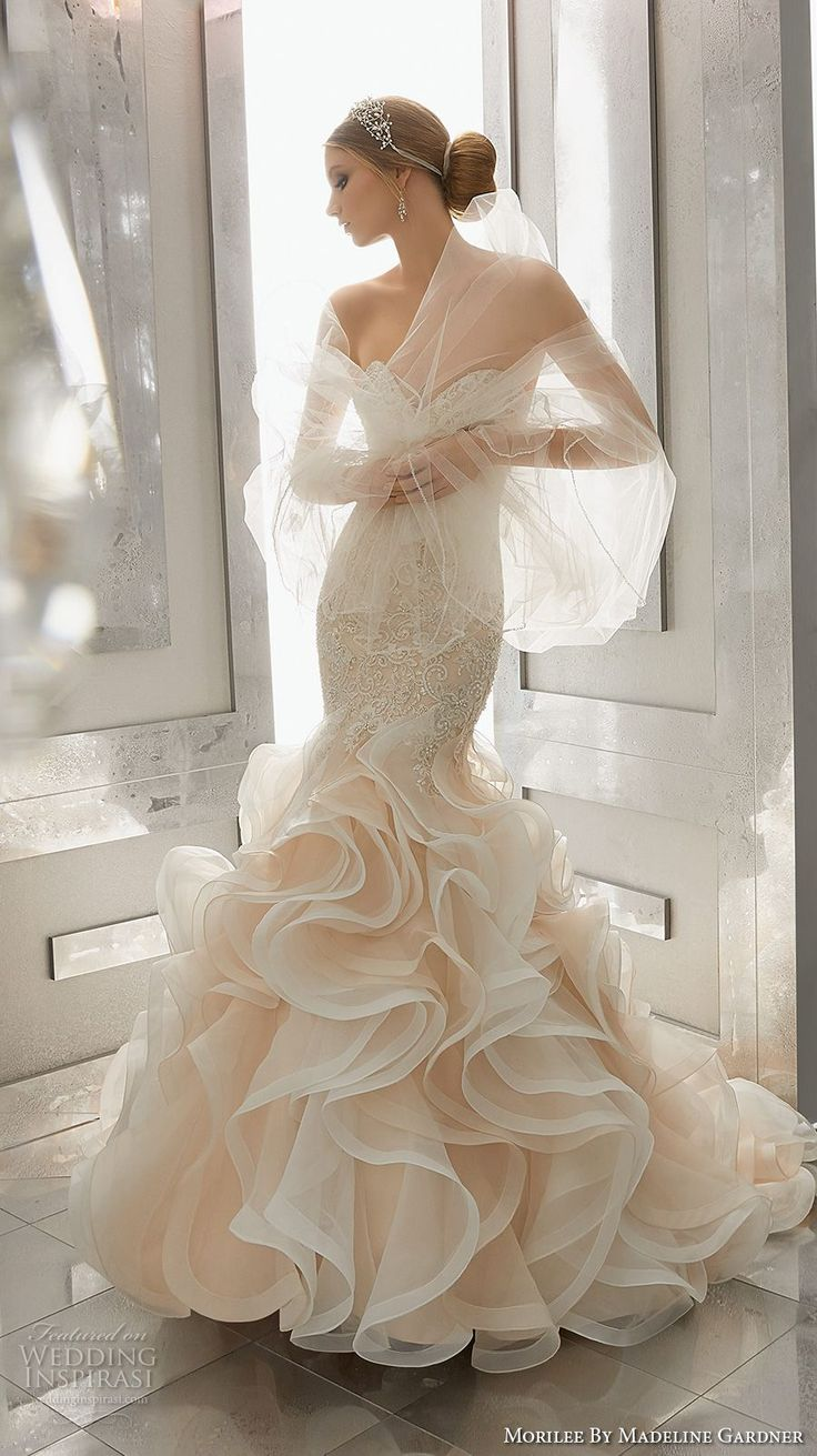 Mermaid Style Wedding Dresses With Color : Gowns lace mermaid wedding dress and dresses style