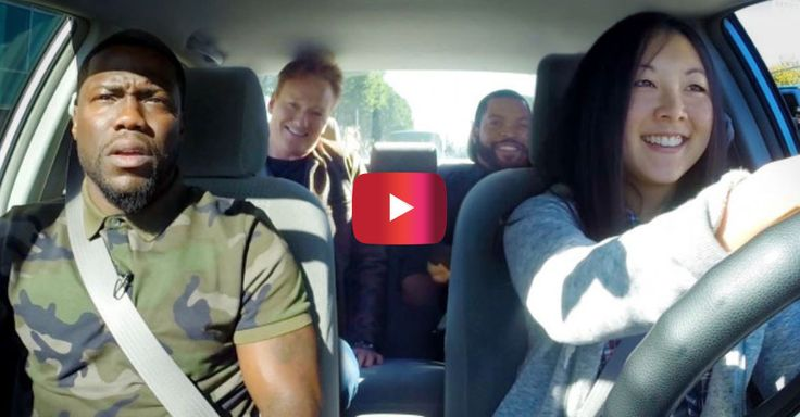 Kevin Hart, Ice Cube and Conan O'Brien try to teach this girl how to drive and it's a gloriously funny mess