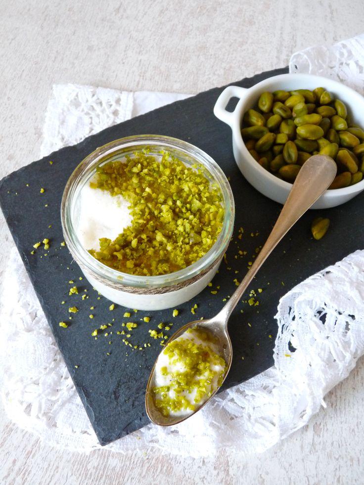 Pannacotta à la pistache sans gluten