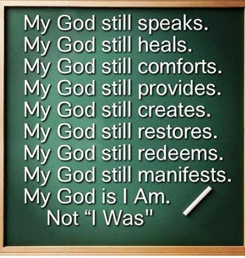 My God still...