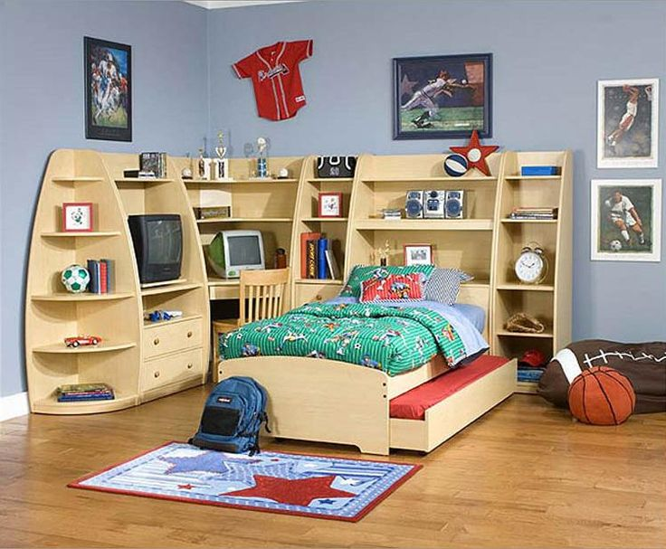 Boy Bedroom. Awesome Residing Preferable Home And Room Spangle Specially  For Kids: Boys Room Design Interior Styled With Wooden Slide In Bed All Inu2026  ...