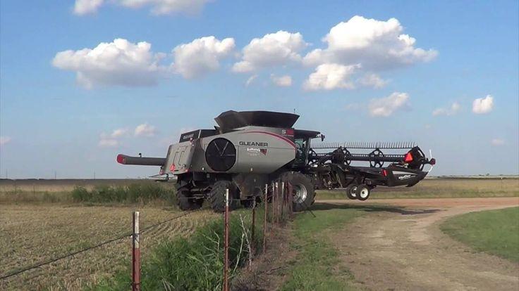 Wheat Harvest near Megargel Texas with Kulhanek Harvesting - June 2016