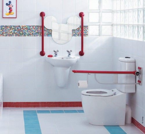15 Cute Kids Bathroom Decor Ideas | Shelterness, seriously, look at the faucet handles, I can hardly stand it.
