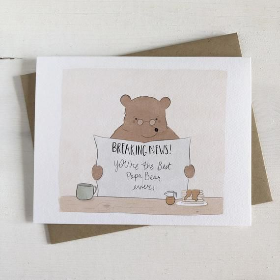 The Best Papa Bear Dad Birthday Card Card For Dad Card Etsy Dad Birthday Card Dad Cards Bear Card