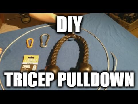 Easy and Safe tutorial on how to make your own tricep pulldown based on the Spud Inc Lat Pulley System https://www.youtube.com/watch?v=wRTPqKoluYQ
