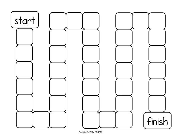 Free game board template! Good for asking questions to the class or for time killer