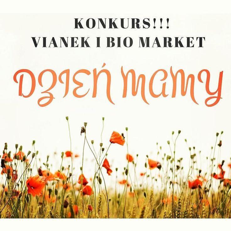 Kochani bądzcie czujni! Już jutro na naszej stronie fb pojawi się konkurs w którym do wygrania będzie zestaw kosmetyków Vianek. Zapraszamy na naszego facebook'a. #konkurs #gratis #prezenty #vianek #biomarket #dzienmamy #love