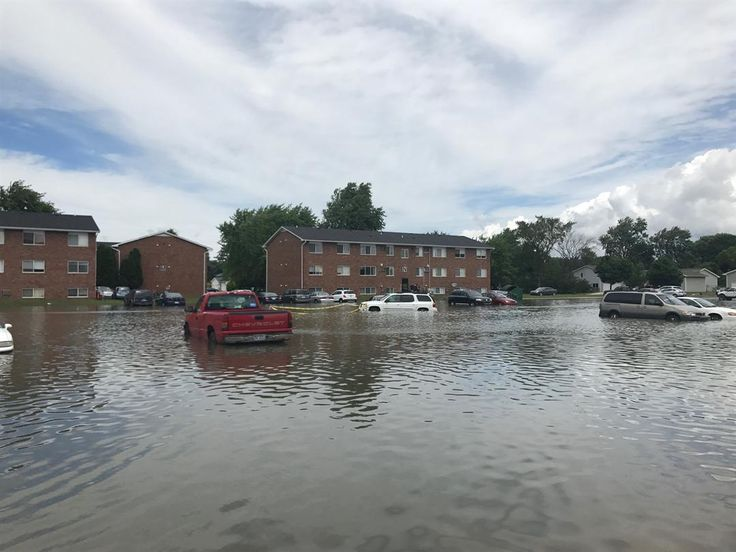 Some Mt. Pleasant residents are stranded after heavy rains not only flooded roads but their vehicles as well.
