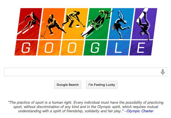 "Google's ""Olympic Charter"" Logo Stands Up To Russia's Anti-Gay Legislation"
