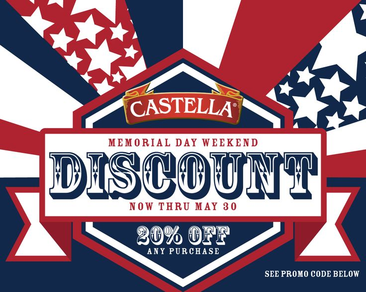 Use promo code USA20 for 20% off your next purchase from the Castella Marketplace! http://www.castellamarketplace.com/