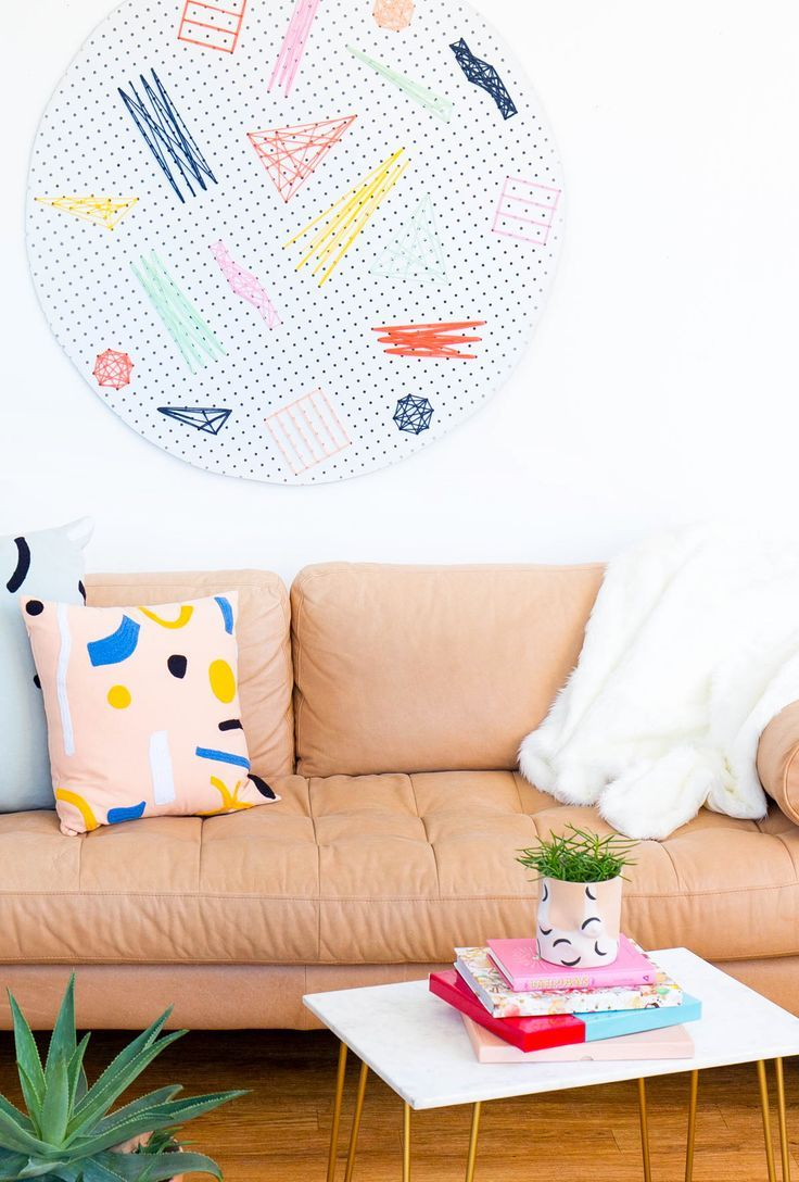 This DIY Pegboard Wall Art is a statement piece that you can make your own with ...