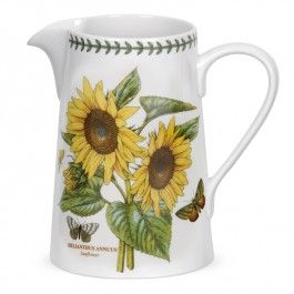 New for 2014 - Portmeirion Botanic Garden - Sunflower Bella Jug. Buy Portmeirion china at www.giftcollector.com.