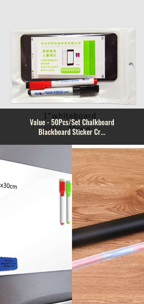 50pcs Set Chalkboard Blackboard Sticker Craft Kitchen Jar Organizer