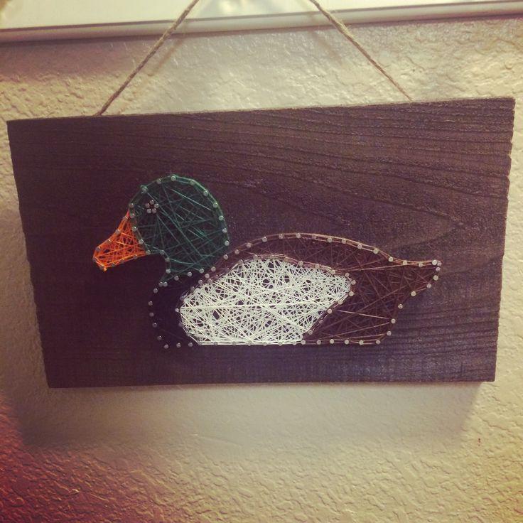 String art Mallard duck DString