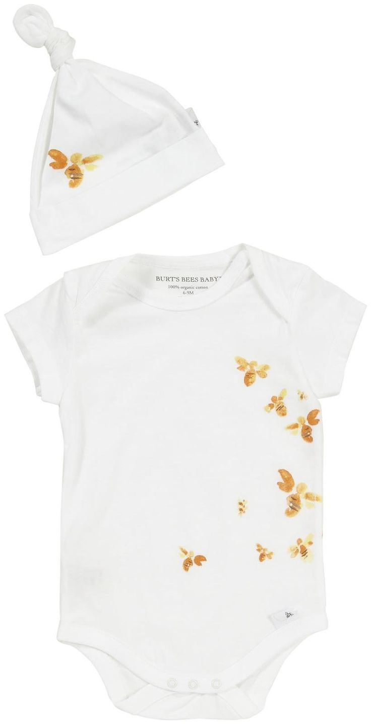 jewelery online LOVE  Burt  39 s Bees Baby Baby Boys  39  Critter Trail Bee Bodysuit w Hat  Baby    Cloud   12 Months