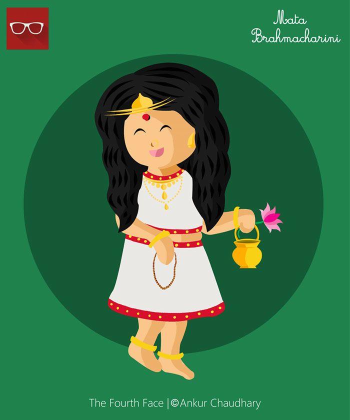 Illustration : Brahmacharini avatar of Maa Durga