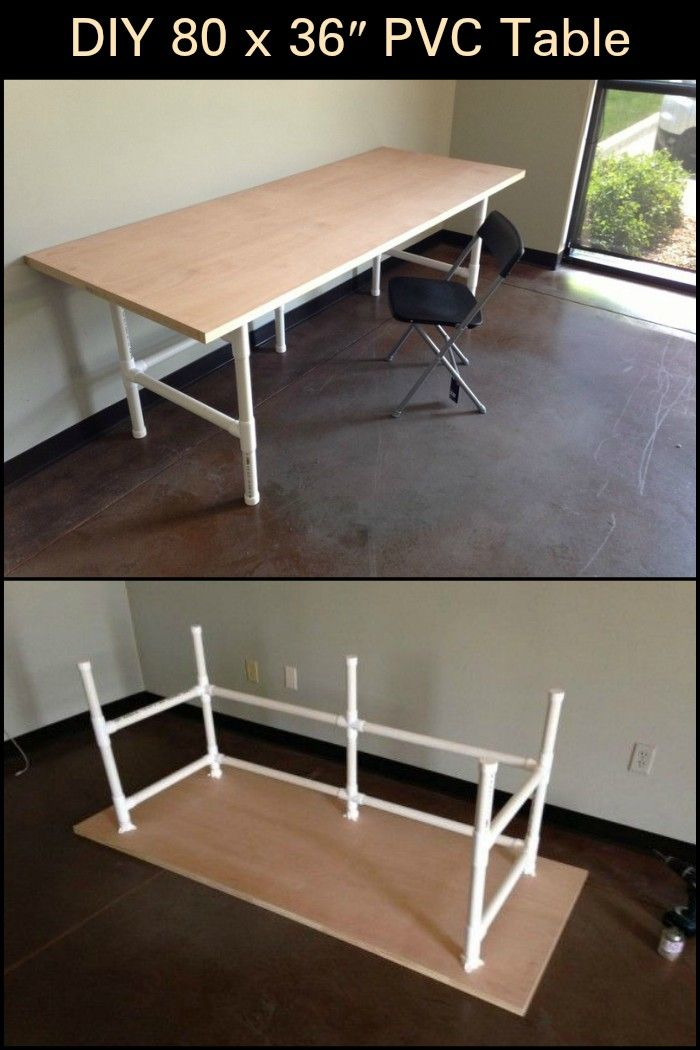 Do You Know What You Can Do With Pvc Make An 80 X 36 Table
