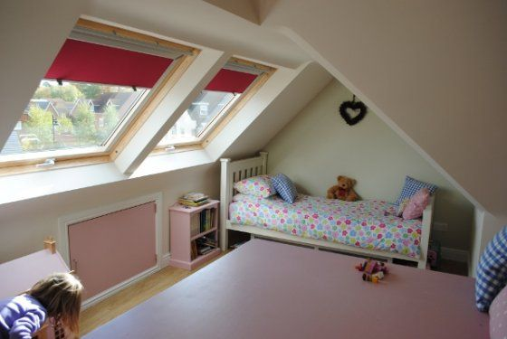 Pitter Patter of tiny feet coming use your loft to create an extra bedroom for the kids.