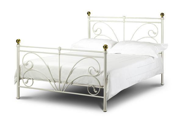 cadiz single ivory metal bed frame 90cm