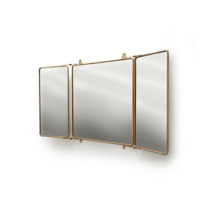 Daphne Metal Rectangular Trifold Mirror Mirrors Medicine Cabinets Mirrors Waterworks