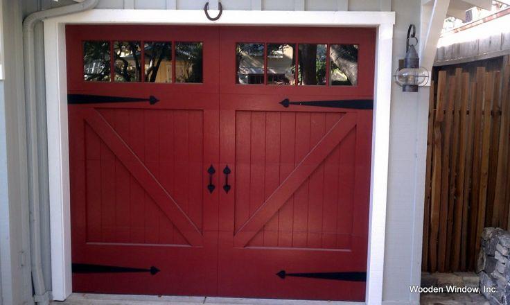 Barn Style Garage Doors Red