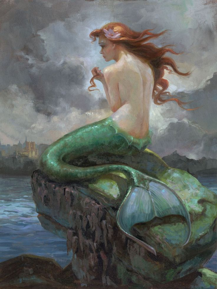 The Little Mermaid - At Odds with the Sea - Lisa Keene - World-Wide-Art.com - #littlemermaid #disney #lisakeene